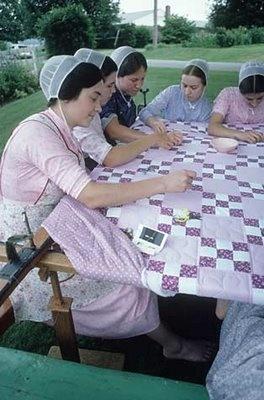 confeccion de Edredon Amish, hecha a mano