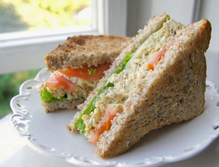 Sanduíche Natural com Pasta de Grão-de-Bico