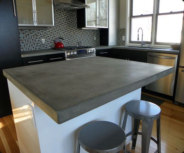 concrete kitchen countertops island 17 best Concrete countertops images on Pinterest
