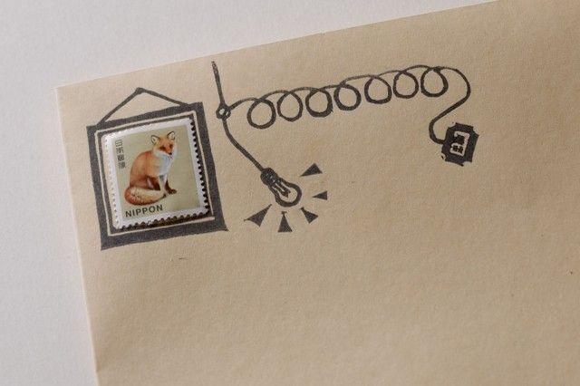 切手フレーム+郵便コードのポスタルセット☆ | iichi(いいち)| ハンドメイド・クラフト・手仕事品の販売・購入