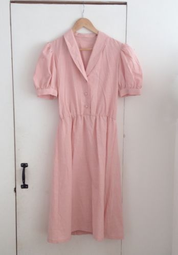 Light Pink 40s 50s style hand made Vintage DRESS | eBay