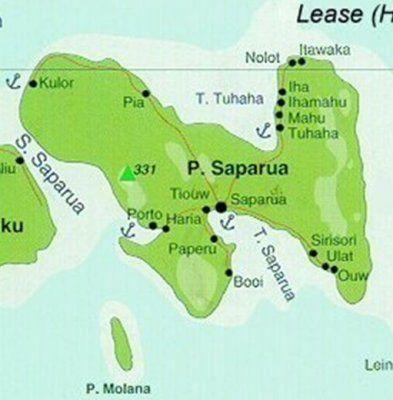 Saparua Map | Haria | My Roots