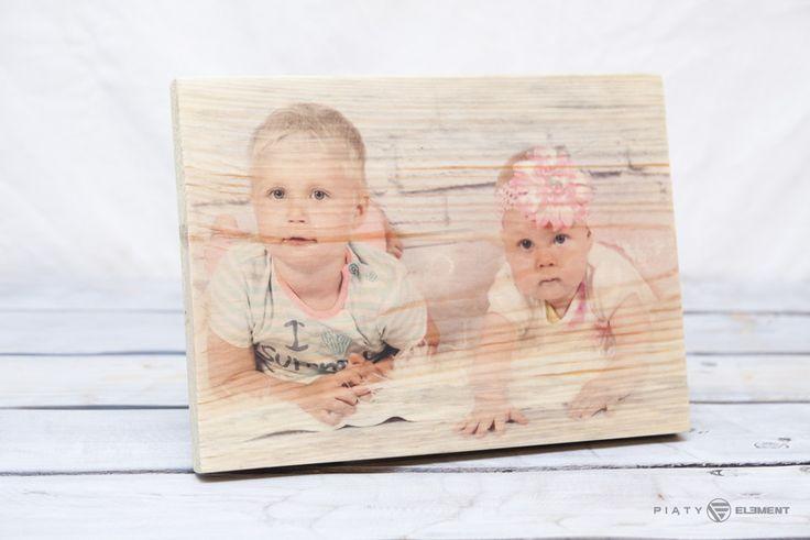 """Zdjęcie na drewnie - """"Zdrewniała Fotka"""" 18x25 - PiatyElement - Dodatki do domu"""