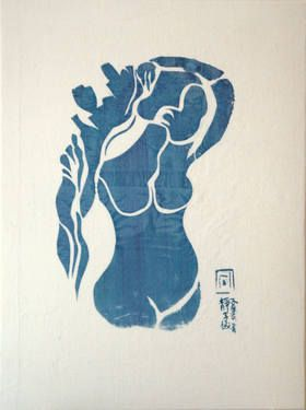 "Saatchi Art Artist Shizico Yi; Painting, ""FROM MATISSE TO HOKUSAI NO5 (SOLD)"" #art"