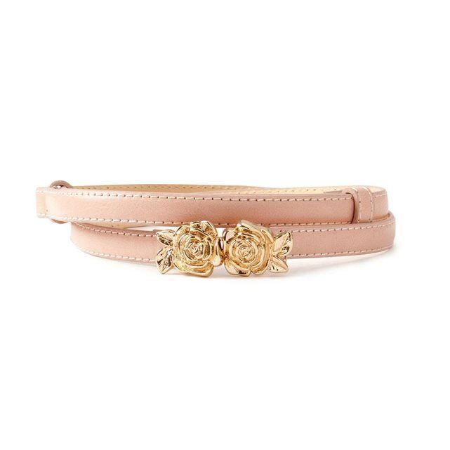 La ceinture fine, fermoir fantaisie roses doré, ajustable au dos MADEMOISELLE R