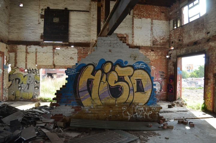 Just Another | Hidden in plain sight.  #streetartsunday #streetart #graffiti #abandonedbuilding