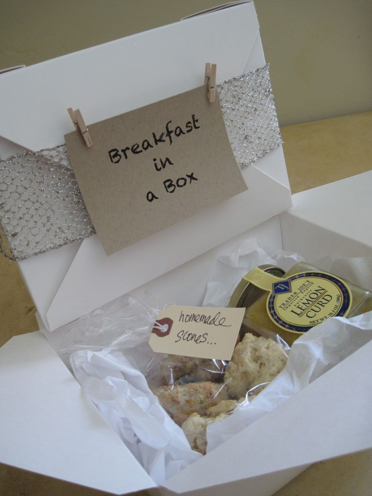 Breakfast in a box. Great gift or care package idea!