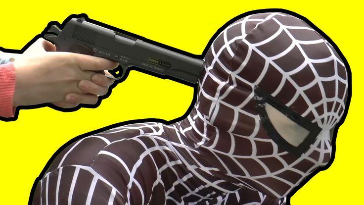 Spiderman Dies | Spiderman vs Frozen Elsa and Anna :) - YouTube