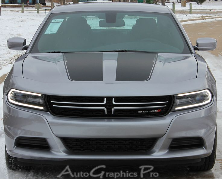 "2015-2016 Dodge Charger ""SPLIT HOOD"" Mopar Style Vinyl Graphics Stripe Decal"
