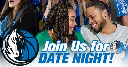 Dallas Mavericks NBA Make it a Date Night with The Mavs!  Get two Platinum Level Mavs tickets, plus $30 in Mavs gift cards to spend on food and drinks at the game or stop by The Hangar to pick out your favorite Mavs gear to complete the perfect date night.