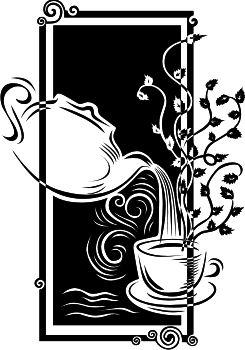 Наклейки для интерьера - Силуэты - Чайная Церемония