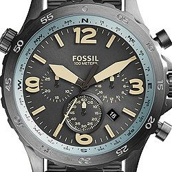 Montre Nate Compass chronographe en acier inoxydable gunmetal