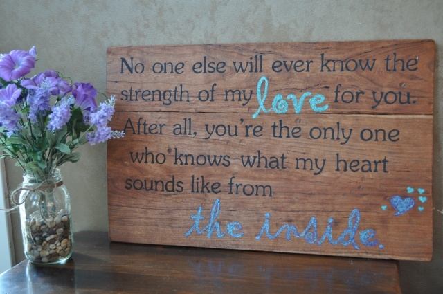 DIY Quote Plaque ..... This is my next project :)