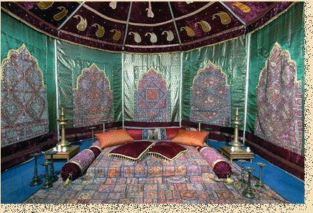 An arabian tent might make a nice bedroom enclosure...