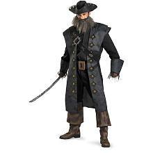 Pirates of the Caribbean Deluxe Black Beard Halloween Costume - Adult
