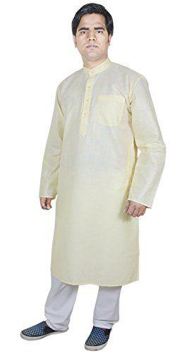 Mens Clothing Cheap Kurta Pajama Wedding Indian Fashion Clothes Yellow Size L RoyaltyLane http://www.amazon.co.uk/dp/B01AFYWPT4/ref=cm_sw_r_pi_dp_pUJQwb1DQKTWC