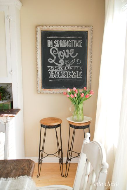 Spring Chalkboard with Free Template and Tutorial