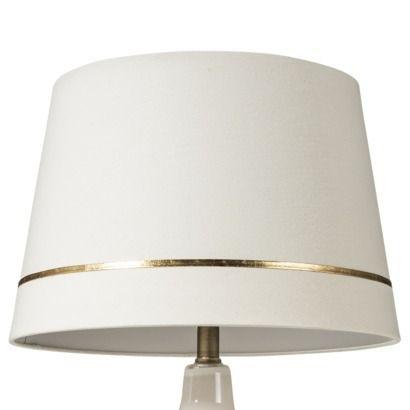 threshold gold stripe lamp shade cream large af. Black Bedroom Furniture Sets. Home Design Ideas