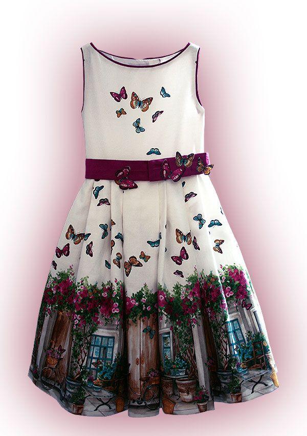 #Estampación muy provenzal para este #vestido de niña