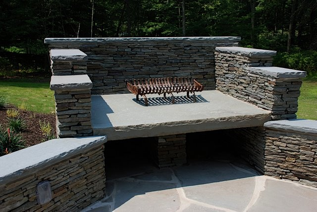 BDL Installed Natural Stone Fire Area