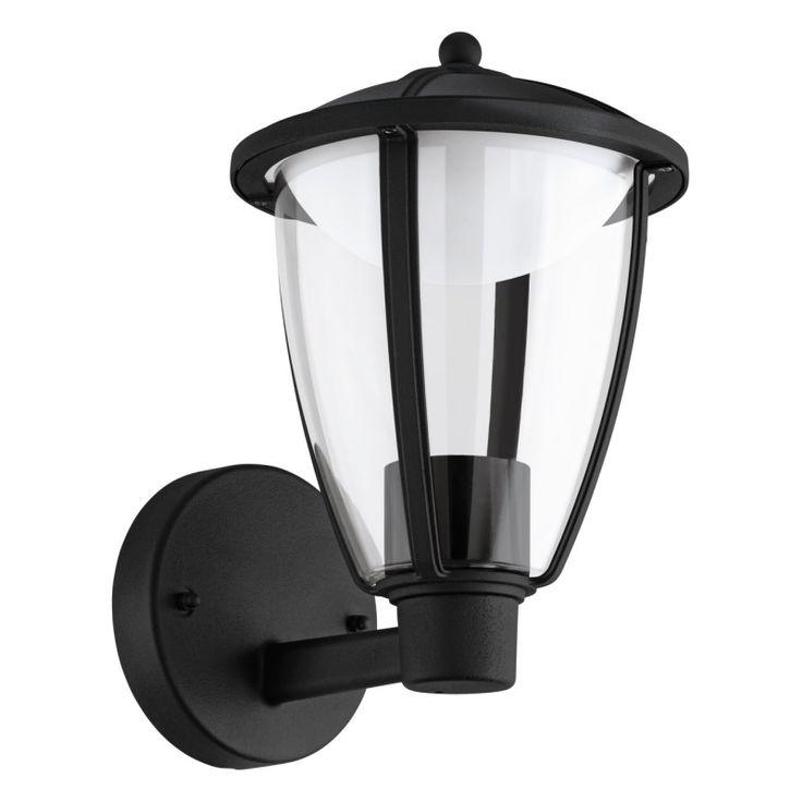 Snygg vägglykta tillverkad i aluminium med en svart yta och en slitstark plastkupa. Den är utrustad med LED-belysning som sprider ett varmvitt och bra ljus på din vägg. Integrerad LED-belysning.