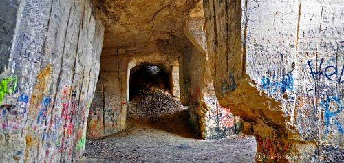 Underground man-made landscape