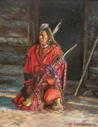 native american paintings Hubert Wackermann