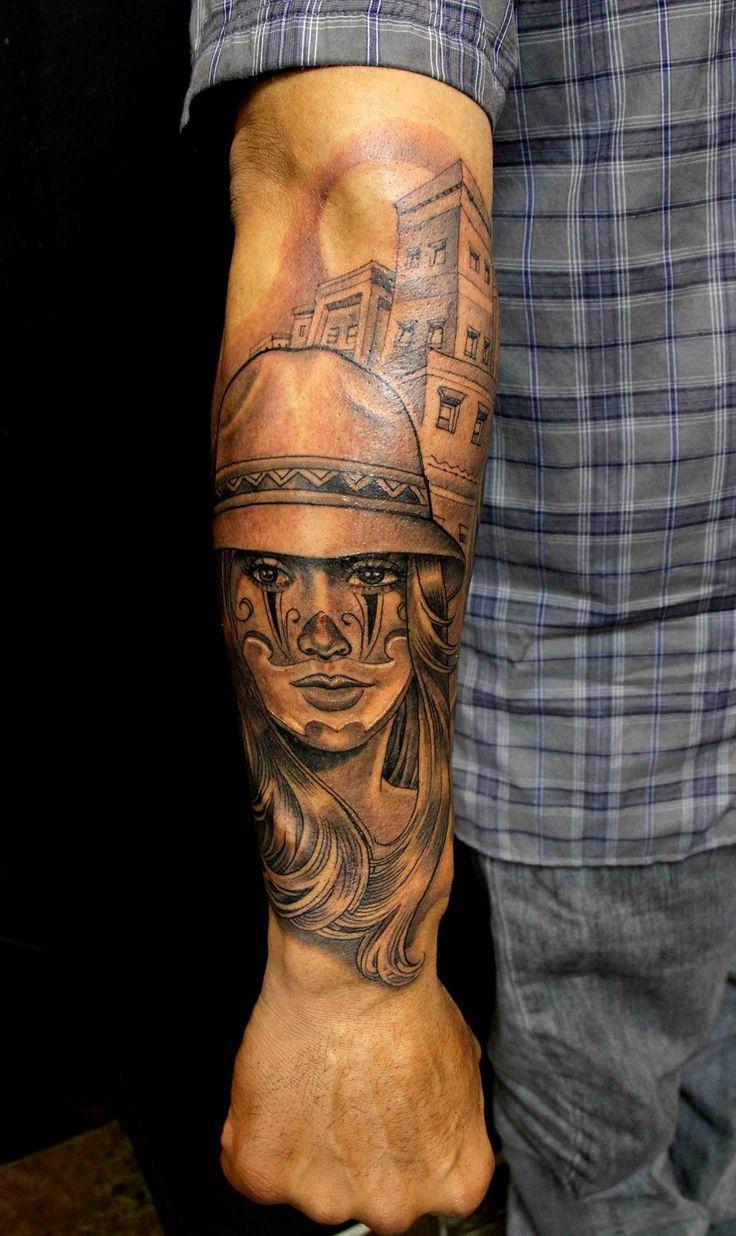 136 best gangsta tatt 39 s images on pinterest female for Chicano clown girl tattoos