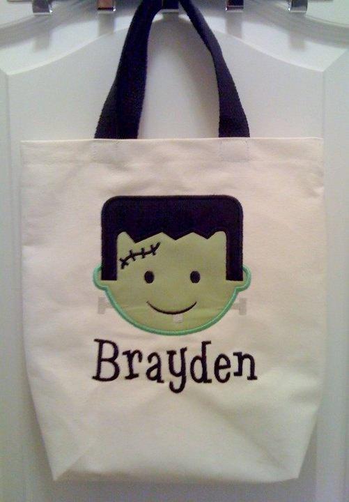 Applique Halloween bag