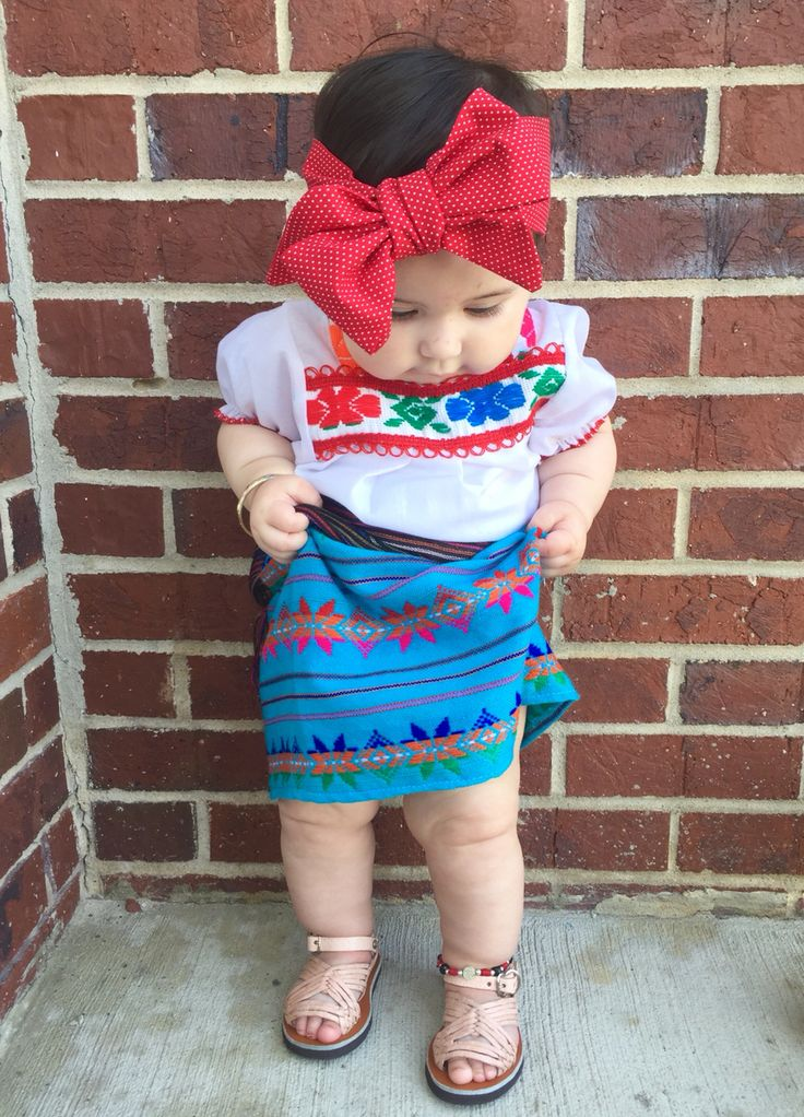 """Baby Girl Fashion  Amelia Carter in traditional Mexican Dress  """"Finally nice weather this show some leg"""""""