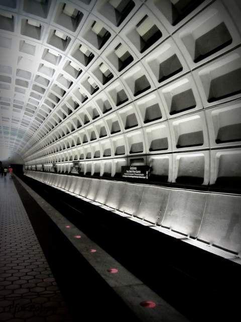 Washington DC Travel Photography / Washington DC Metro Ceiling by PforPoppy