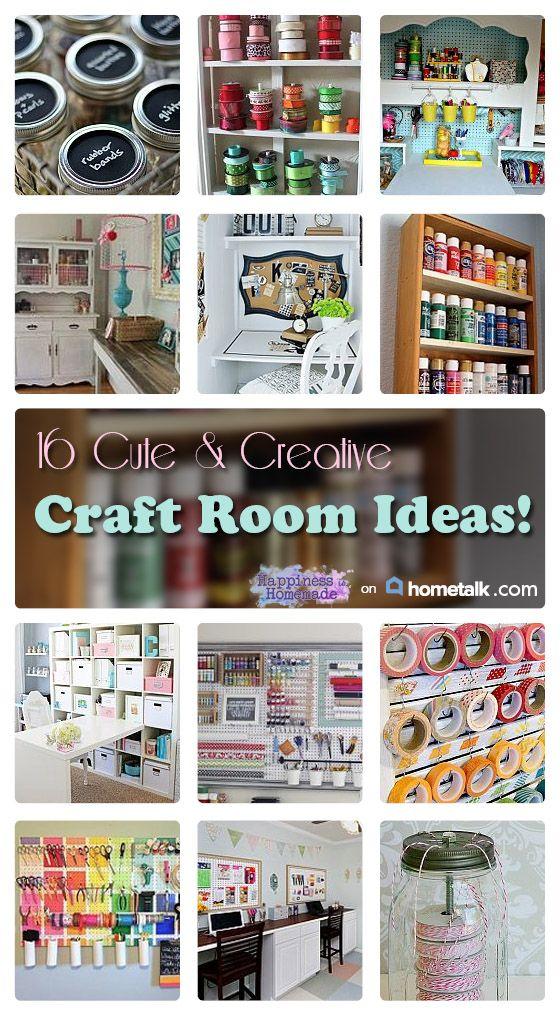 16 Cute & Creative Craft Room Ideas - Happiness is Homemade