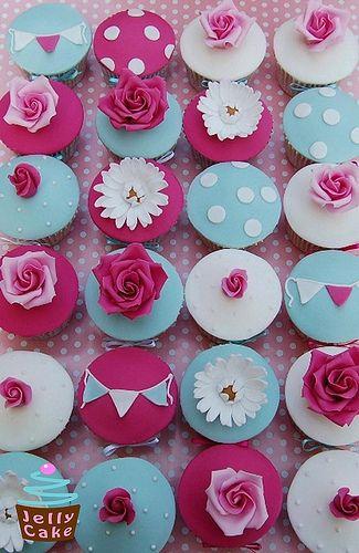 Cath Kidston Wedding Cupcakes