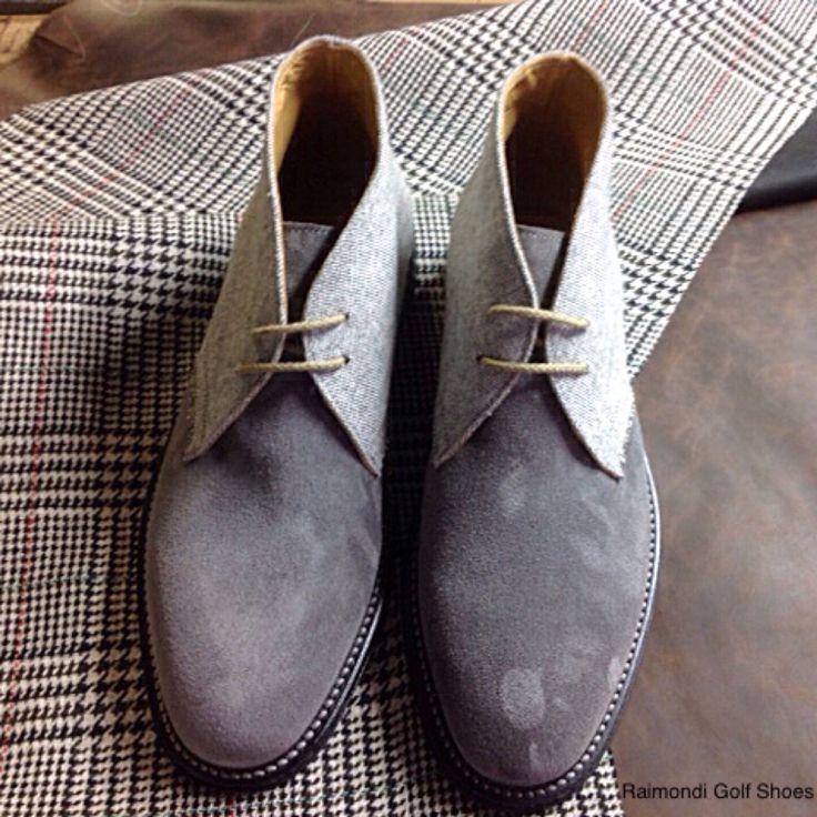 Raimondi Walking Shoes.. linea passeggio..Polacchino Clark crosta e tessuto  #raimondigolfshoes