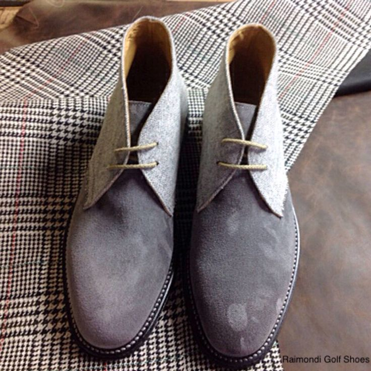 Raimondi Walking Shoes.. linea passeggio..Polacchino Clark crosta e tessuto  #raimondigolfshoes #golfshoes #italiangolfshoes #madeinitaly #handmadeinitaly #italianstyle #walkingshoes #man #woman #italy