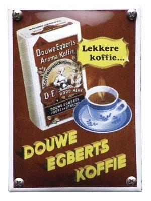 Emaille bord Douwe Egberts