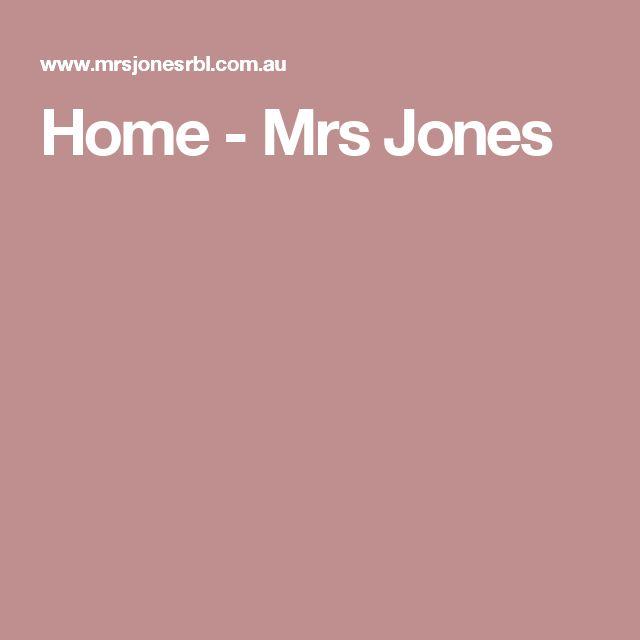 Home - Mrs Jones
