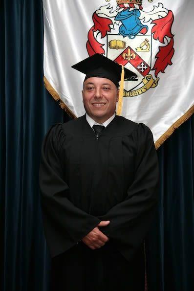 Alejandro Iglesias Costas at the 2014 Madrid Graduation. Alejandro Iglesias congratulated receiving by Prof. Fernando Miralles.