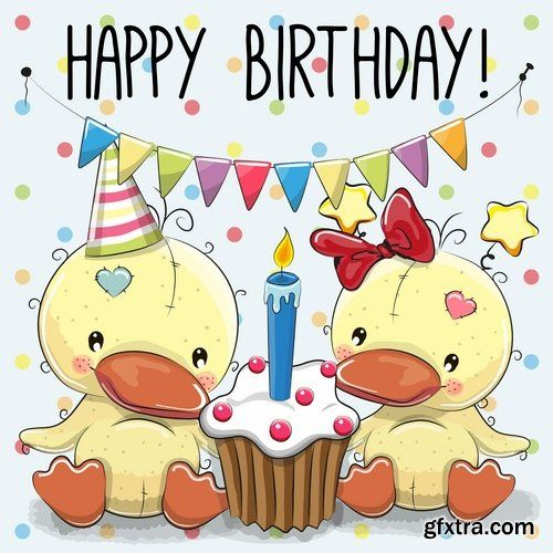 609 best happy birthday images on pinterest happy birthday collection of different vector image gift cards with funny cartoon animals 3 25 eps negle Gallery