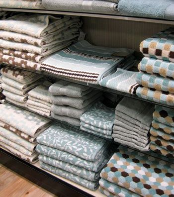 These towels would match the mistake I just painted my bathroom - #blue # brown