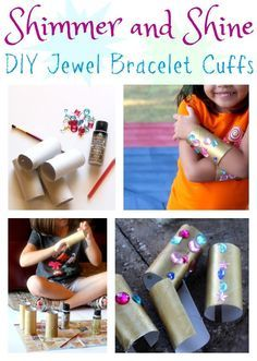 Do your kids love Shimmer and Shine? They'll love making their own DIY jewel bracelet cuffs. They're easy, affordable, and as much fun to make as they are to wear! #ad