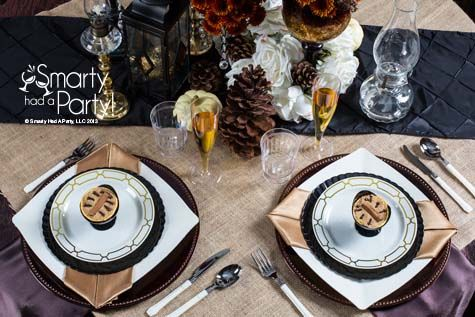 Rustic Glam Inspiration. Wedding PlatesHoliday ... & 9 best Disposable table settings images on Pinterest | Place ...