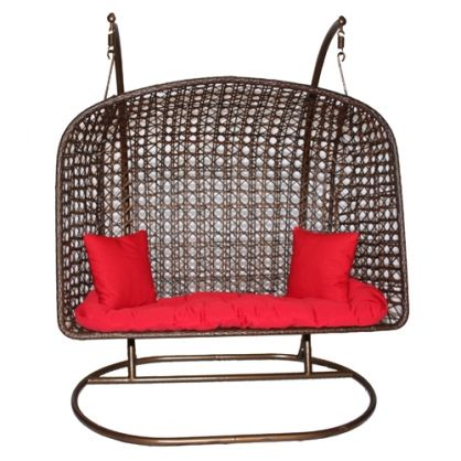 Two Person Wicker Swing With Cushion And 2 Pillows  Http://www.galaxyhomerecreation