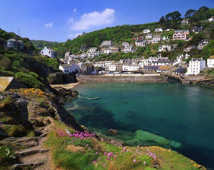 UK, Cornwall, Looking Towards Polperro
