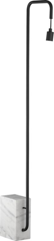 Love this modern and marble floor lamp that actually shines some real light into the room  | CB2