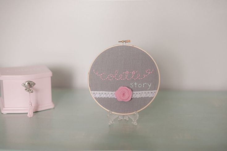 Embroidered Name Nursery Decor