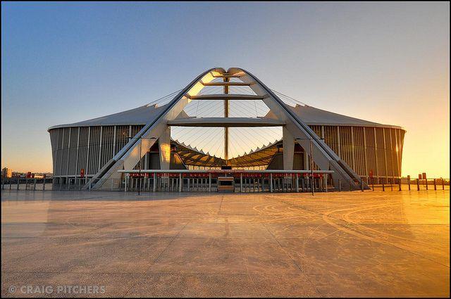 The arch at Moses Mabhida Stadium.
