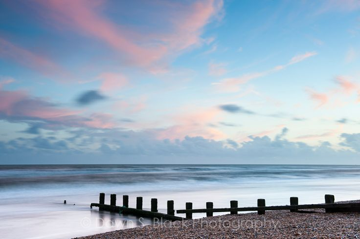 Sunset at Winchelsea Beach, East Sussex, England