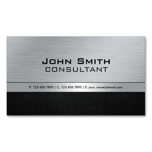 264 best silver metallic business cards images on pinterest professional elegant modern black silver metal business card template reheart Gallery