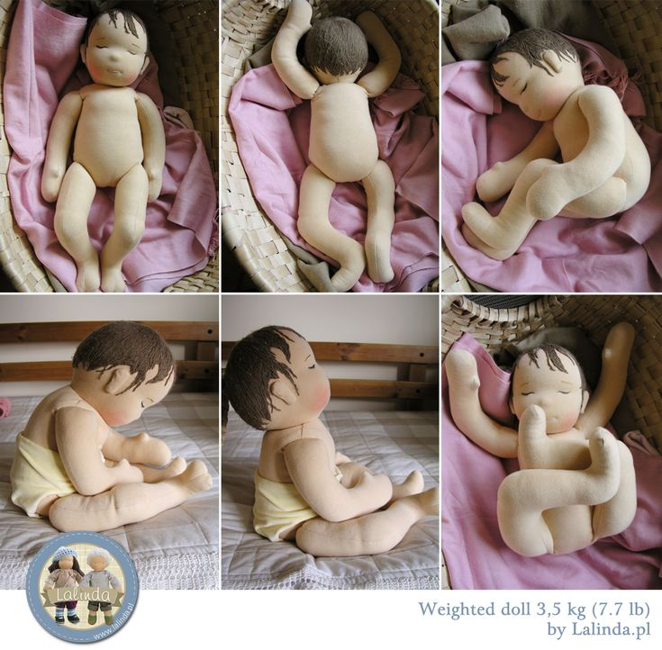 Weighted baby doll made by Lalinda.pl